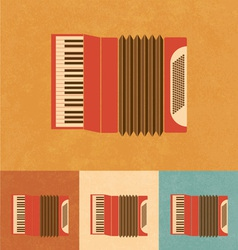 Retro Accordion vector image vector image