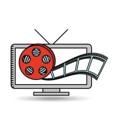 tv online movie strip film design vector image