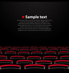 cinema auditorium with seats vector image