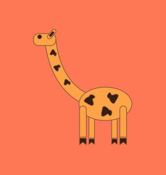 flat icon on background kids toy giraffe vector image vector image