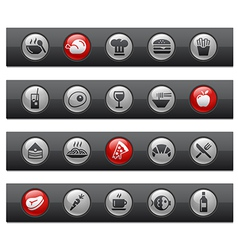 Food 1 Buttons vector image vector image