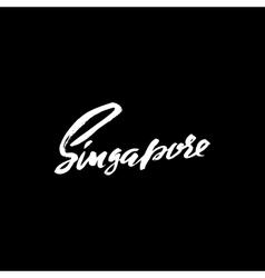Greetings from Singapore Greeting card with vector image