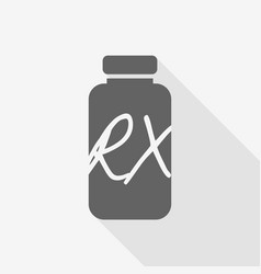 receipt vial pill bottle with shadow vector image