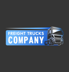 truck cargo freight company logo template vector image vector image