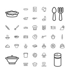 37 cooking icons vector