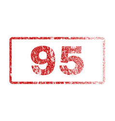 95 rubber stamp vector image