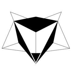 abstract low poly fox icon vector image