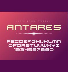 antares futuristic decorative bold font vector image