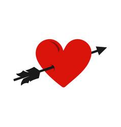 Arrow heart icon sign falling love vector