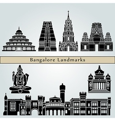 Bangalore landmarks and monuments vector image