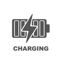 Battery charging icon vector