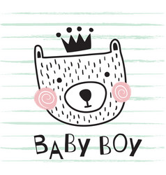 bear baby boy vector image