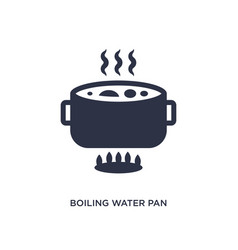 Boiling water pan icon on white background simple vector