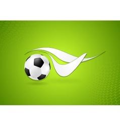 Bright soccer logo design vector image