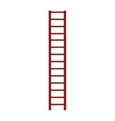 Brown ladder icon vector