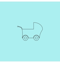 Buggy web icon on a background vector image