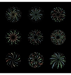 Celebration Brightly festive firework bursts vector image