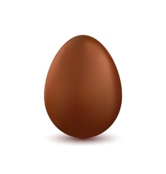 chocolate easter egg isolated on white vector image