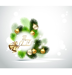 Christmas branch of fir tree vector image