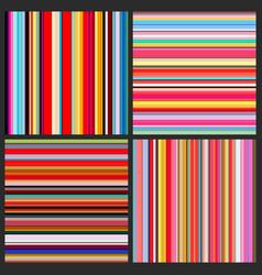 color lines background set vector image