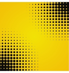 Colored yellow black halftone background vector