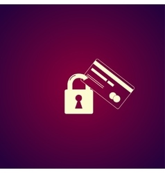 Credit Card Security icon Eps 10 vector image