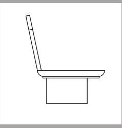 Design sketch of a garden chair made of cement vector