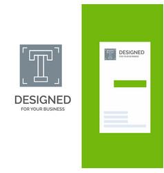 Designer font path program text grey logo design vector