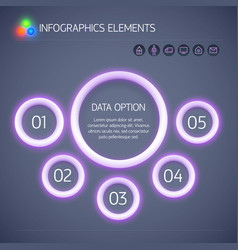 digital business infographic template vector image