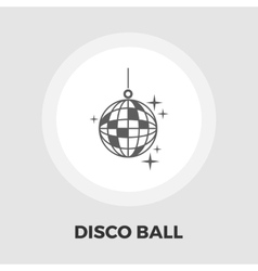 Disco ball flat icon vector image
