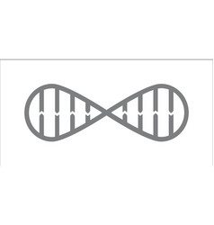 Dna spiral in infinity symbol vector