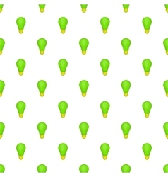 Eco light bulb pattern cartoon style vector