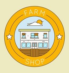 Farm shop - emblem logotype pack vector
