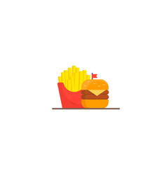 Fast food hamburger dinner vector