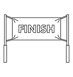 Finish line icon outline style vector