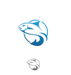Fish logo concept vector