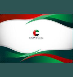 Flag uae background design vector