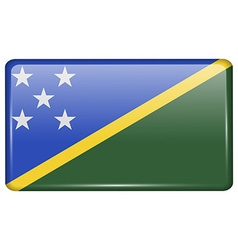Flags Solomon Islands in the form of a magnet on vector