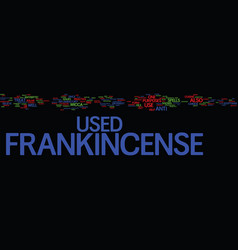 Frankincense text background word cloud concept vector