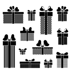 Gift box pictograms on white background vector
