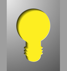 Glowing yellow light bulb as inspiration concept vector