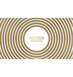 golden circles frame on white background vector image