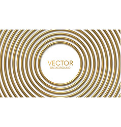 golden circles frame on white background with vector image