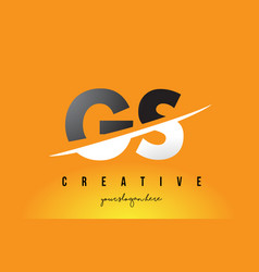 gs g s letter modern logo design with yellow vector image