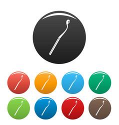 half burn match icons set color vector image