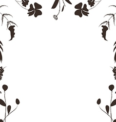 Hand Drawn silhouette Frame Background vector image