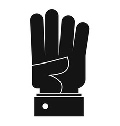 hand four icon simple black style vector image