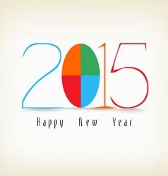 Happy new year color design vector