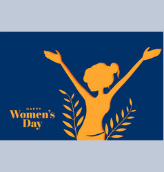 Happy womens day attractive banner with girl vector