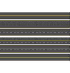 Highway road marking horizontal straight asphalt vector